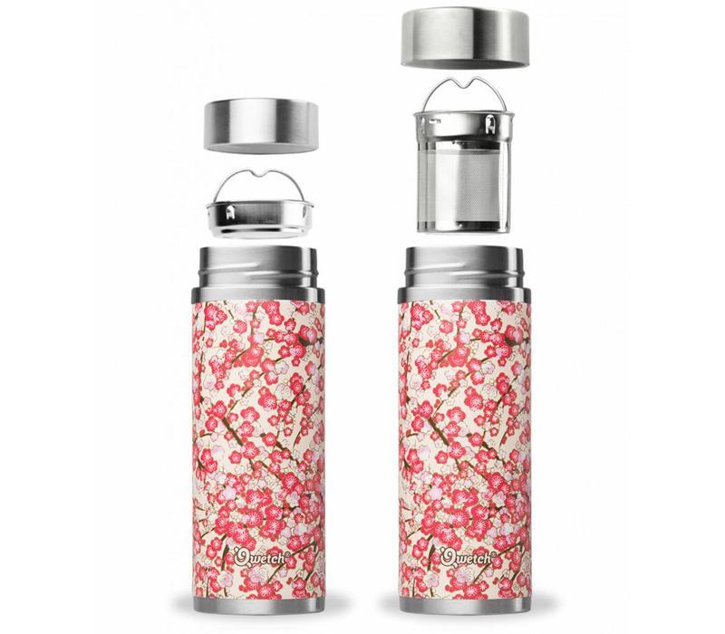 Qwetch Tea Thermos Sakura Collection - Washi White/Red
