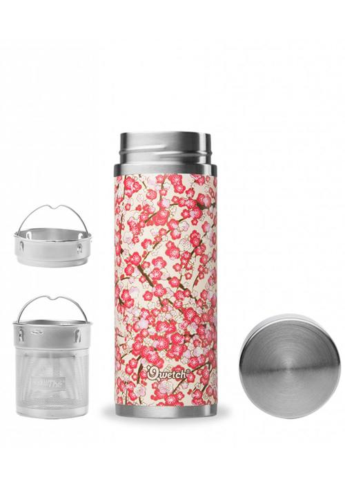 Qwetch Qwetch Tea Thermos Sakura Collection - Washi White/Red
