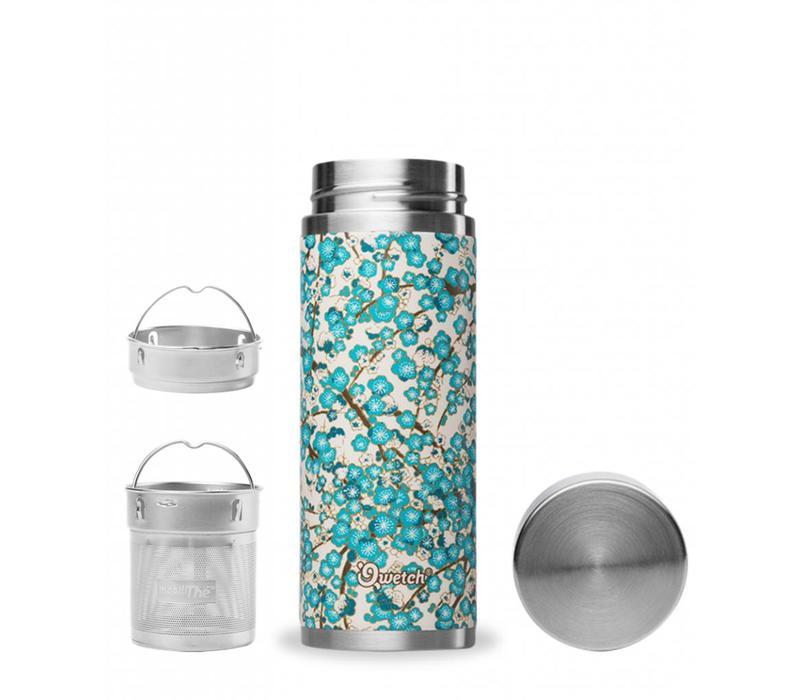 Qwetch Thee Thermos Sakura Collectie - Washi White/Blue