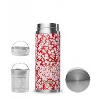 Qwetch Tea Thermos Sakura Collection - Washi Red/Pink