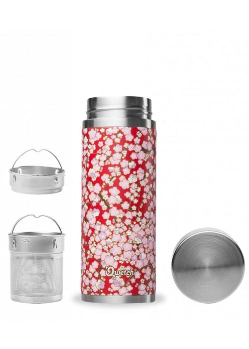 Qwetch Qwetch Tea Thermos Sakura Collection - Washi Red/Pink
