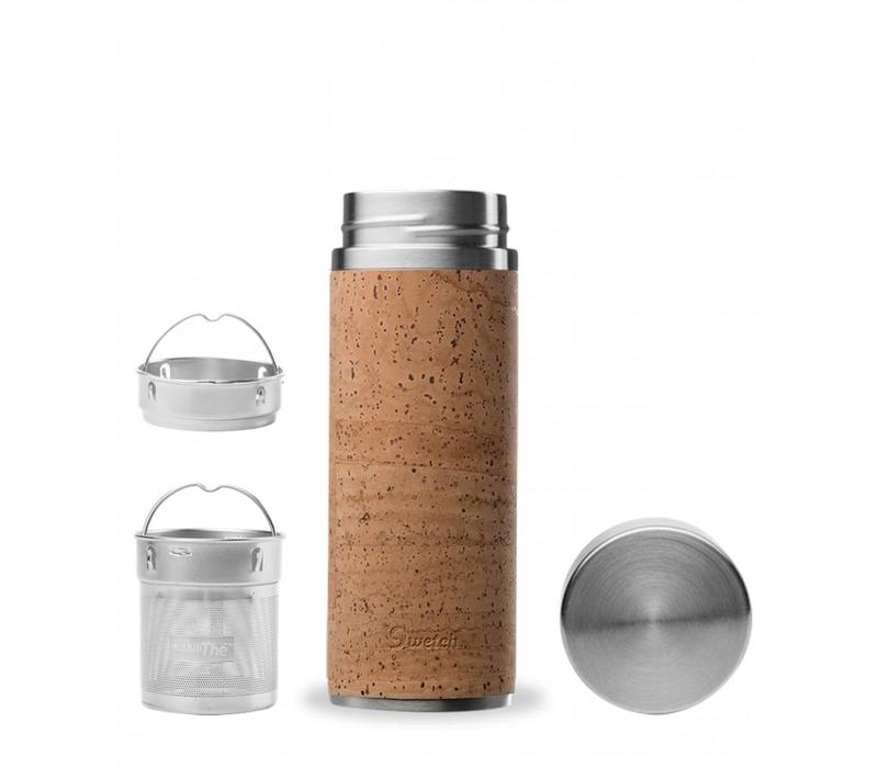 Qwetch Tea Travel Thermos - Cork Collection