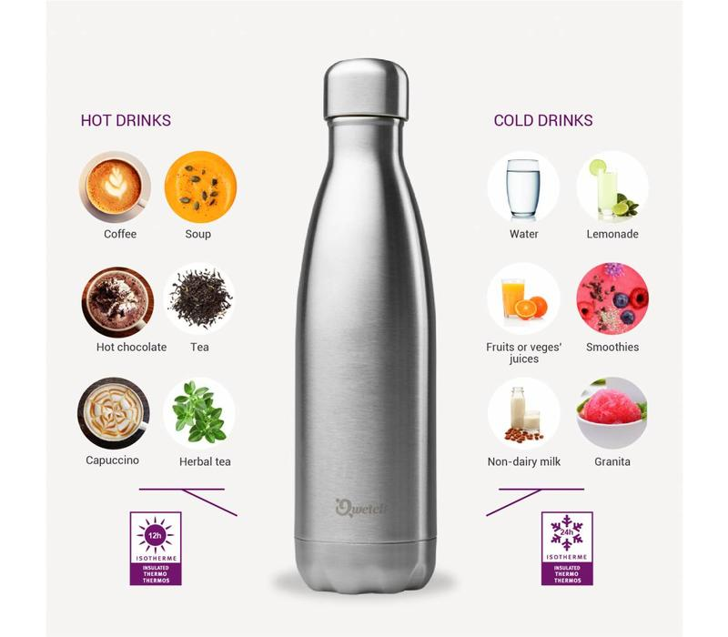 Qwetch Insulated Bottle 500ml - Inox