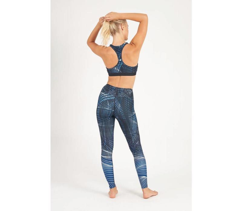 Dharma Bums Yoga Legging - Synergy Blue