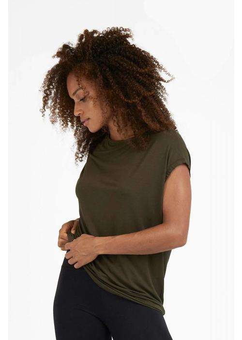 Dharma Bums Dharma Bums Luxe Layer Top - Khaki