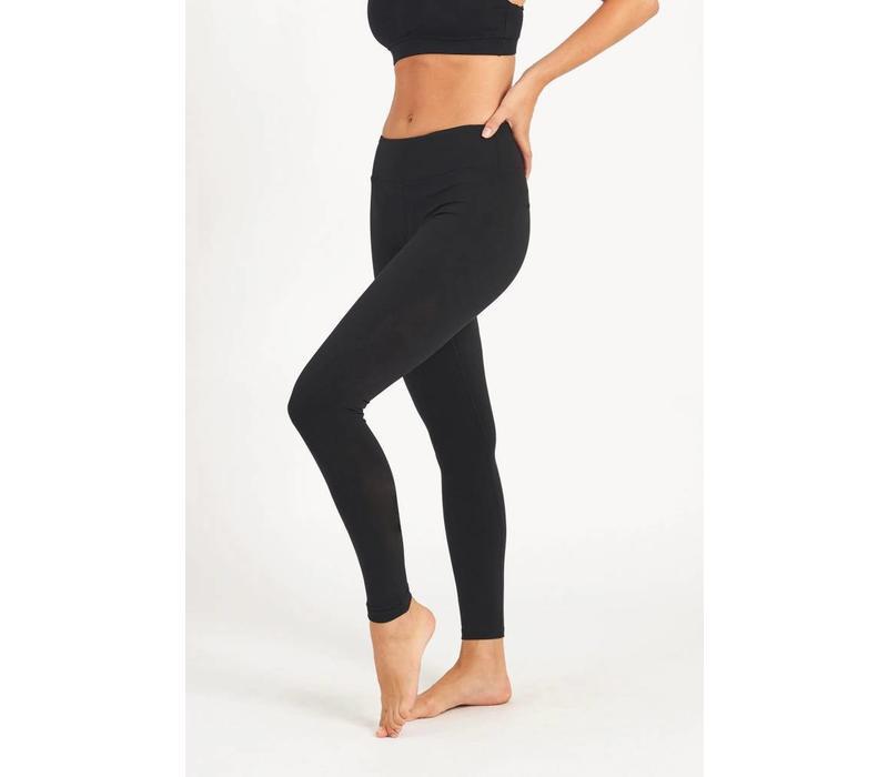 Dharma Bums Yoga Legging - Plain Black