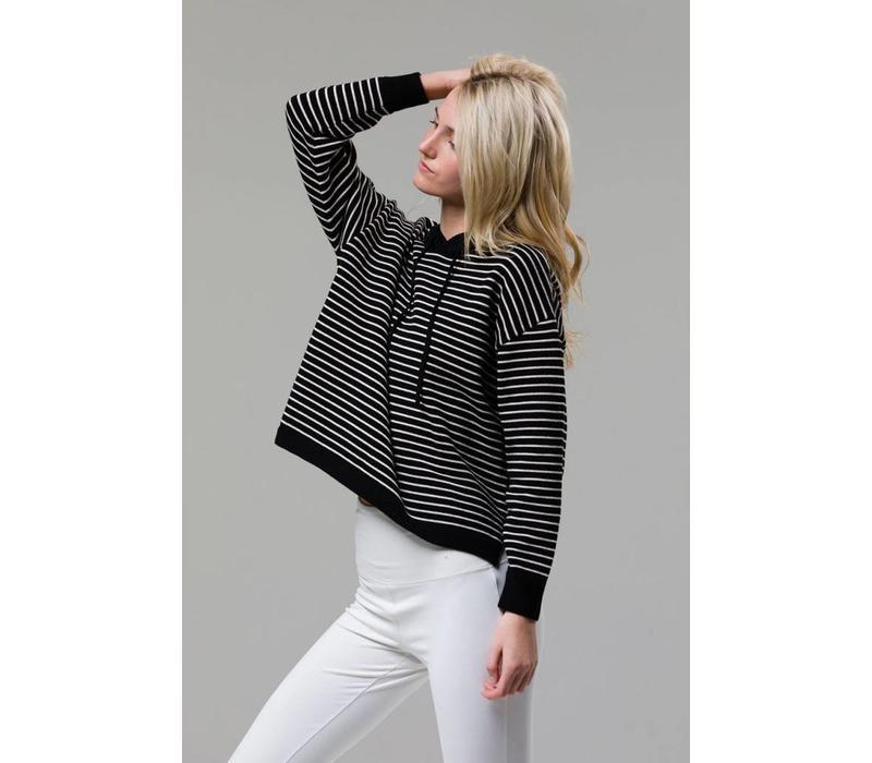 Onzie Striped Hoodie - Black