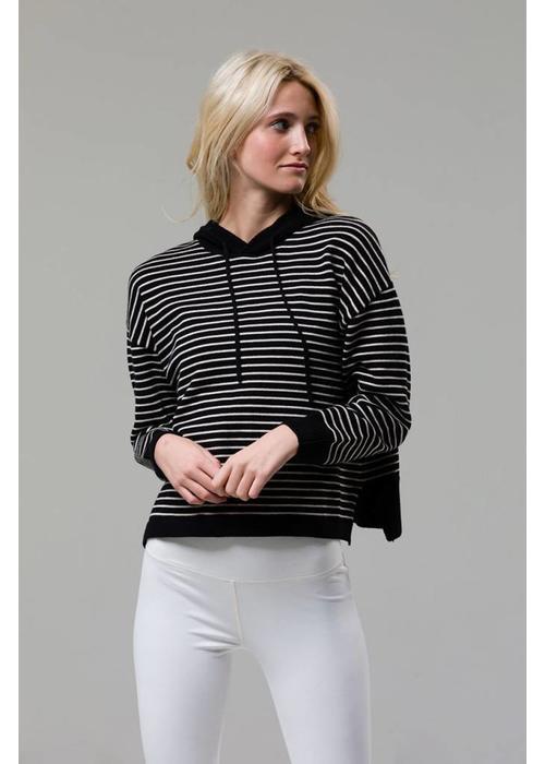 Onzie Onzie Striped Hoodie - Black