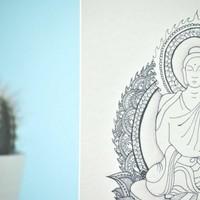 Yoga Postcard - Amitabha 'the Buddha of 'Infinite Light'