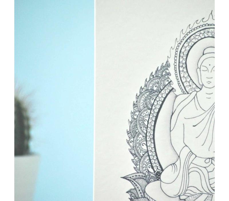 Yoga Postkarte - Amitabha 'the Buddha of 'Infinite Light'