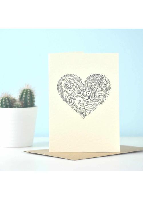 Eastern Promise Yoga Ansichtkaart - Heart Henna