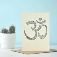 Yoga Ansichtkaart - Intricate Om / Aum