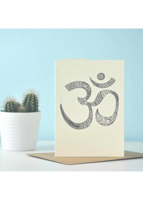 Eastern Promise Yoga Postcard - Intricate Om / Aum
