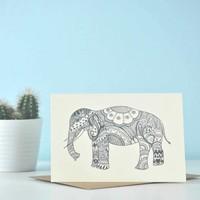 Yoga Ansichtkaart - Just Elephant