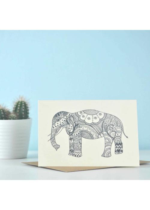 Eastern Promise Yoga Postcard - Just Elephant