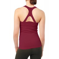 Mandala V-Neck Top - Burgundy