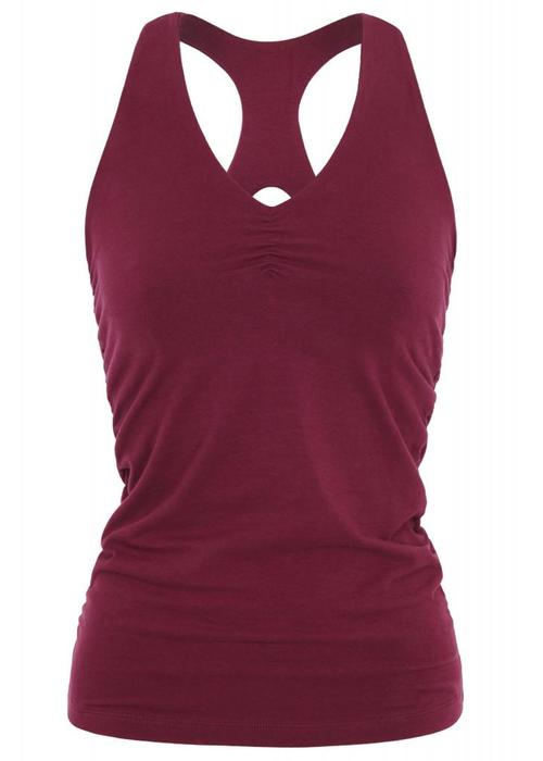 Mandala Mandala V-Neck Top - Burgundy