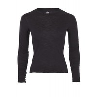 Mandala Ruffled Long Sleeve - Black