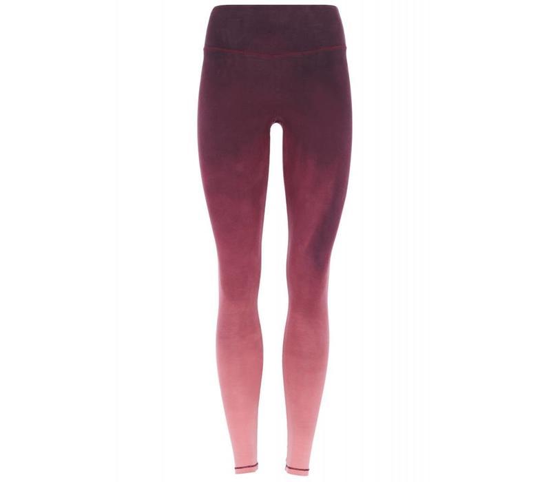 Mandala Tie Dye Pants - Burgundy