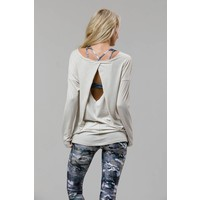 Onzie Diamond Back Top - Ivory