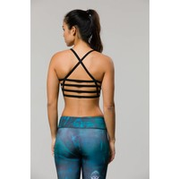 Onzie Graphic High Neck Elastic Bra - Mystic