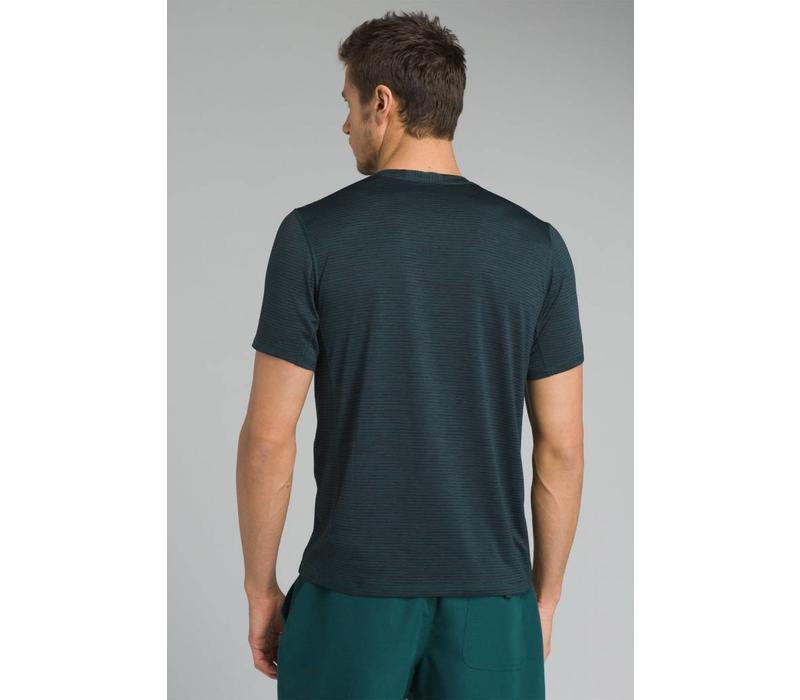 PrAna Hardesty Short Sleeve - Highland Green Stripe