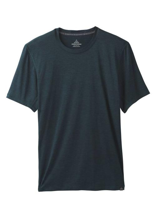 PrAna PrAna Hardesty Short Sleeve - Highland Green Stripe