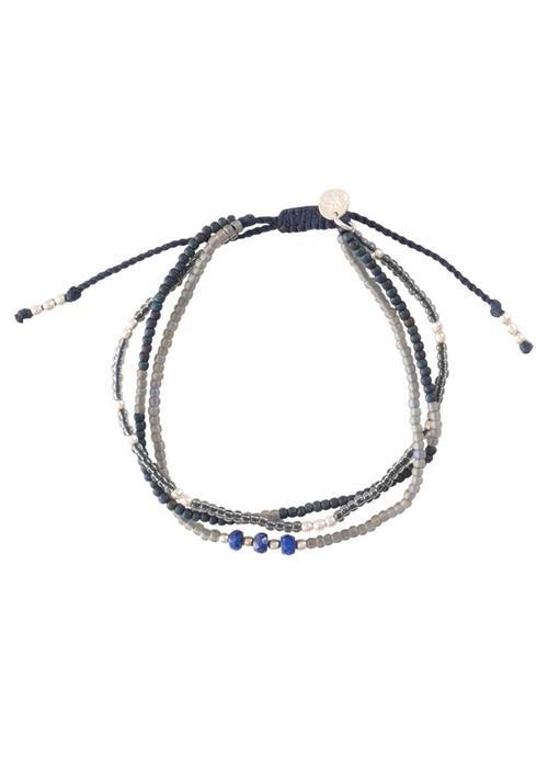 A Beautiful Story A Beautiful Story Winter Mixed Silver Bracelet - Lapis Lazuli