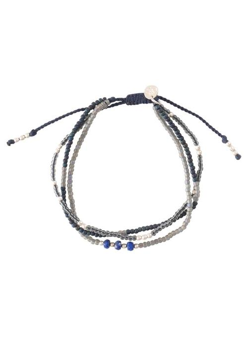 A Beautiful Story A Beautiful Story Winter Mixed Zilveren Armband - Lapis Lazuli