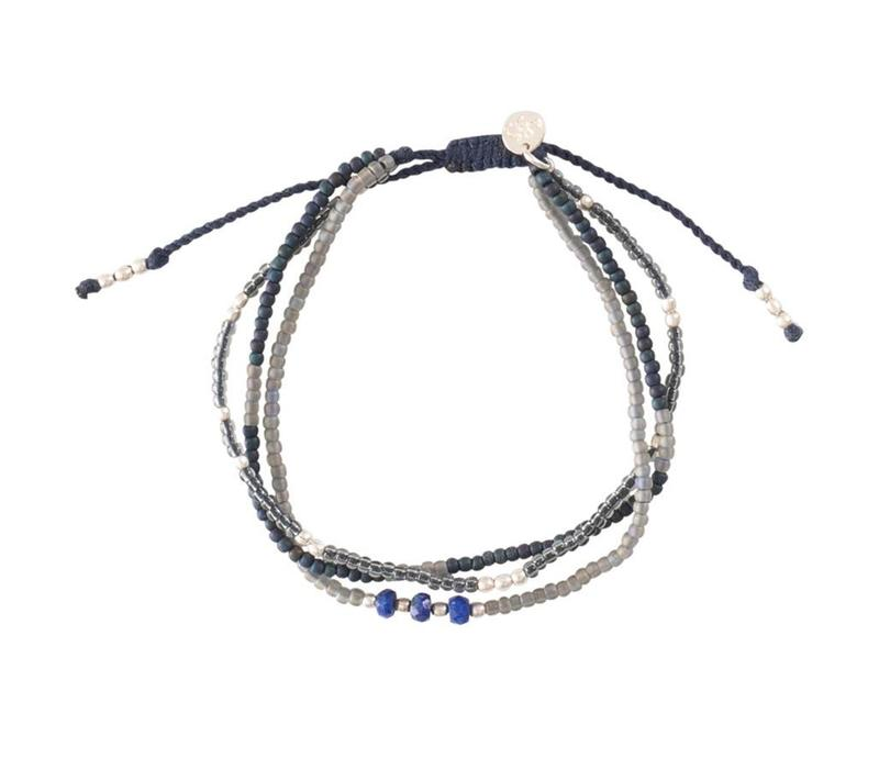A Beautiful Story Winter Mixed Zilveren Armband - Lapis Lazuli