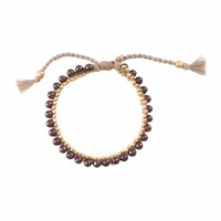 A Beautiful Story Jetty Gold Bracelet - Garnet