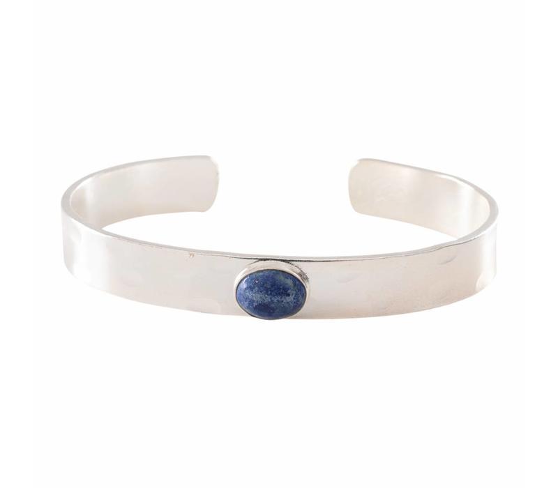 A Beautiful Story Liberty Silver Bracelet - Lapis Lazuli