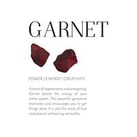 A Beautiful Story Lively Hamsa Gold Necklace - Garnet