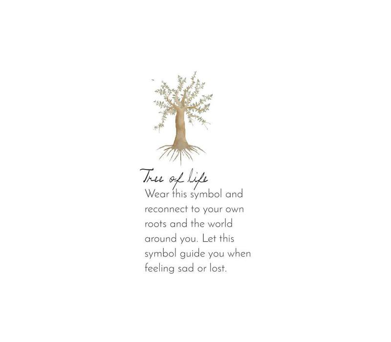 A Beautiful Story Lively Tree Gouden Ketting - Tijgeroog