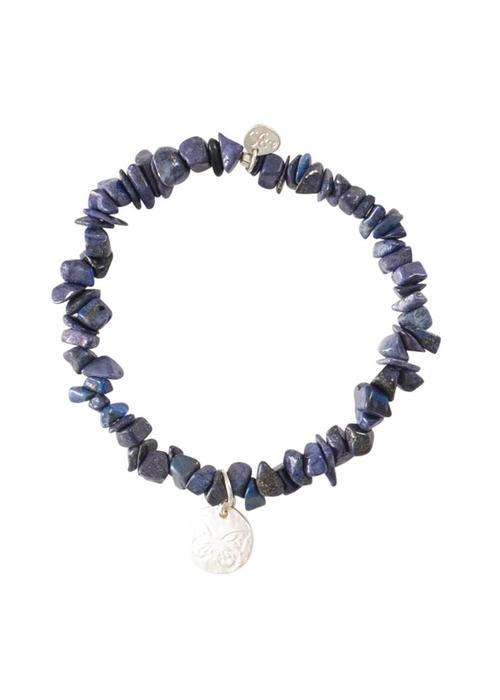 A Beautiful Story A Beautiful Story Power Zilveren Armband - Lapis Lazuli