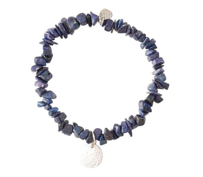 A Beautiful Story Power Zilveren Armband - Lapis Lazuli