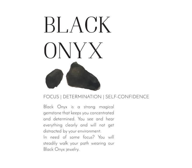 A Beautiful Story Stardust Triangle Gold Bracelet - Black Onyx