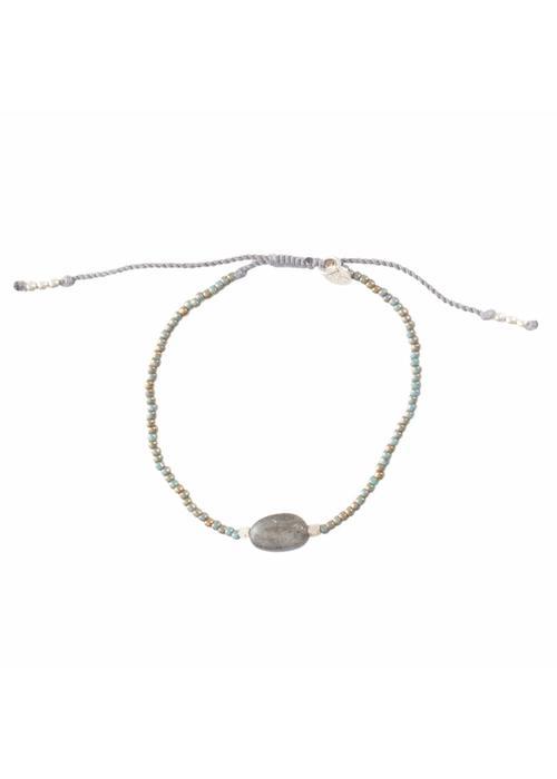 A Beautiful Story A Beautiful Story Winter Silver Bracelet - Labradorite