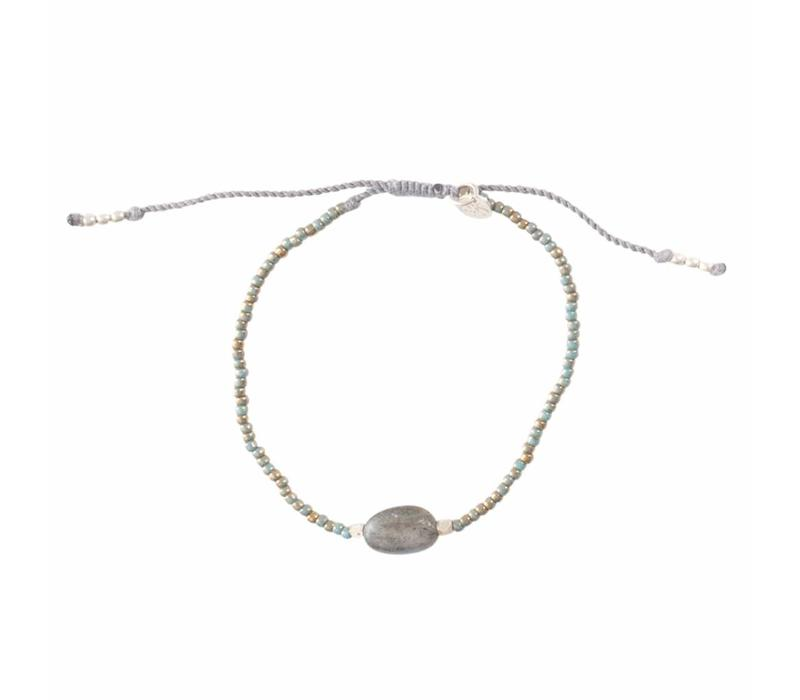 A Beautiful Story Winter Silver Bracelet - Labradorite