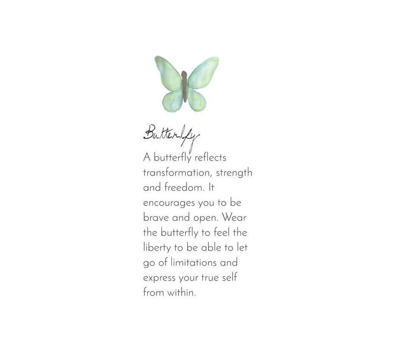 A Beautiful Story Fall Butterfly Silver Necklace - Lapis Lazuli