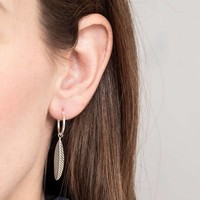 A Beautiful Story Sterling Silver Earrings - Feather Blue Lace Agate Mixed