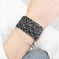 A Beautiful Story Autumn Zilveren Armband - Zwarte Onyx