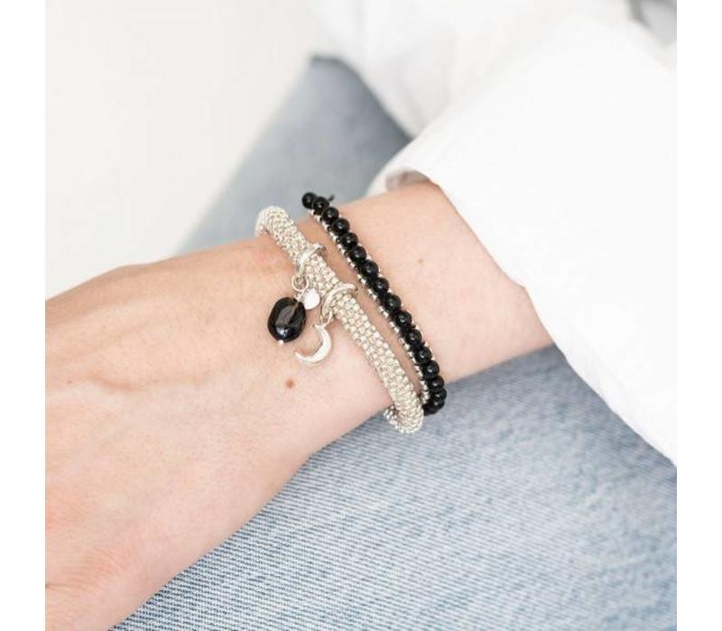 A Beautiful Story Jetty Silver Bracelet - Black Onyx