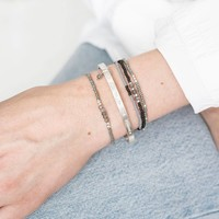 A Beautiful Story Cozy Silver Bracelet - Labradorite