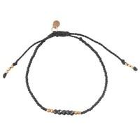 A Beautiful Story Cozy Gouden Armband - Zwarte Onyx