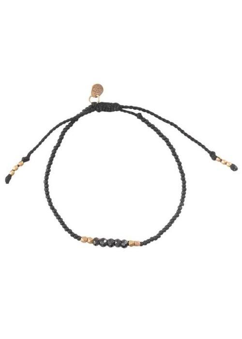 A Beautiful Story A Beautiful Story Cozy Gold Bracelet - Black Onyx