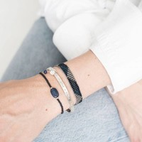 A Beautiful Story Winter Silver Bracelet - Lapis Lazuli