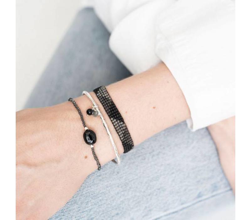 A Beautiful Story Winter Silver Bracelet - Black Onyx