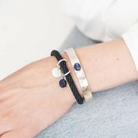 A Beautiful Story Liberty Zilveren Armband - Lapis Lazuli