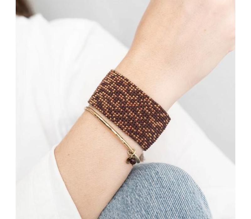 A Beautiful Story Teddy Gouden Armband - Granaat